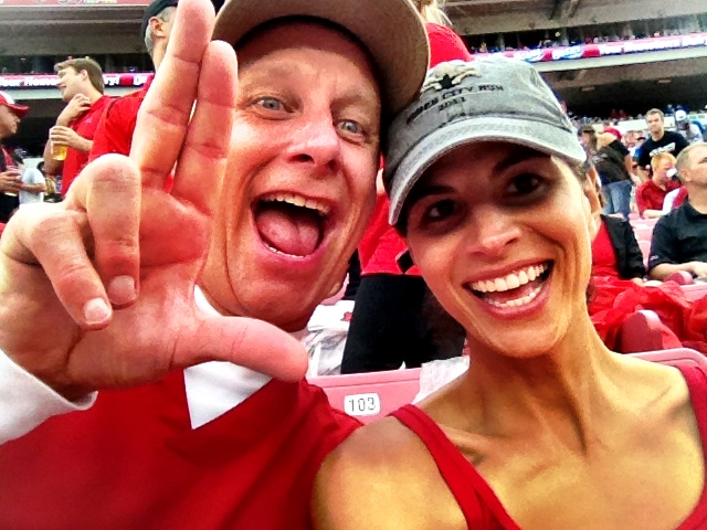 Terry & Mary cheer the Louisville Cardinals to victory past the Kentucky Wildcats 32-14 on September 2, 2012