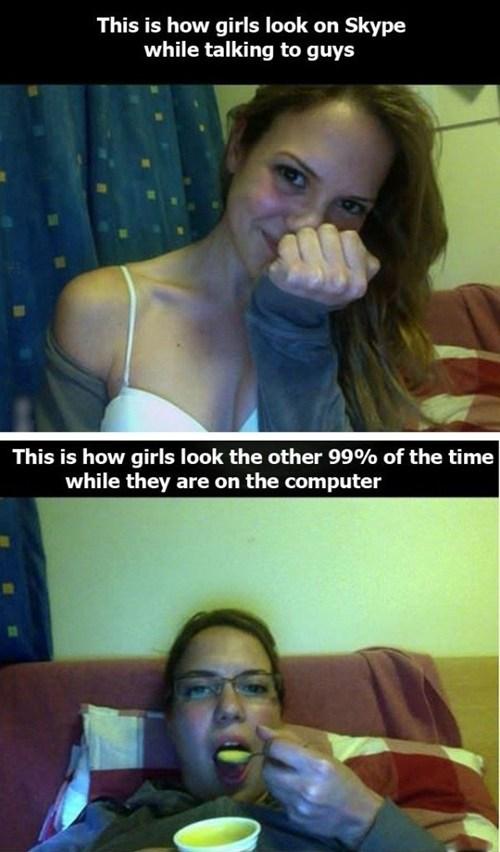 women on skype