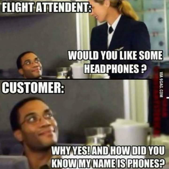 headphones flight