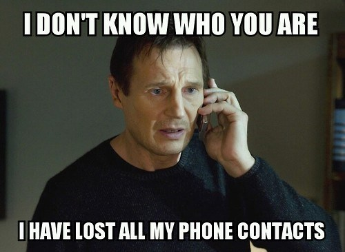 lost phone contacts