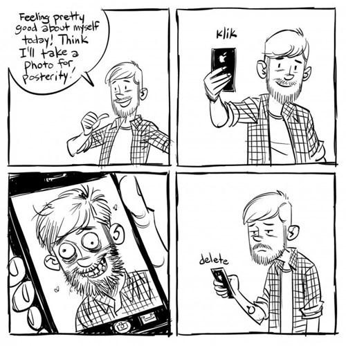 selfie delete