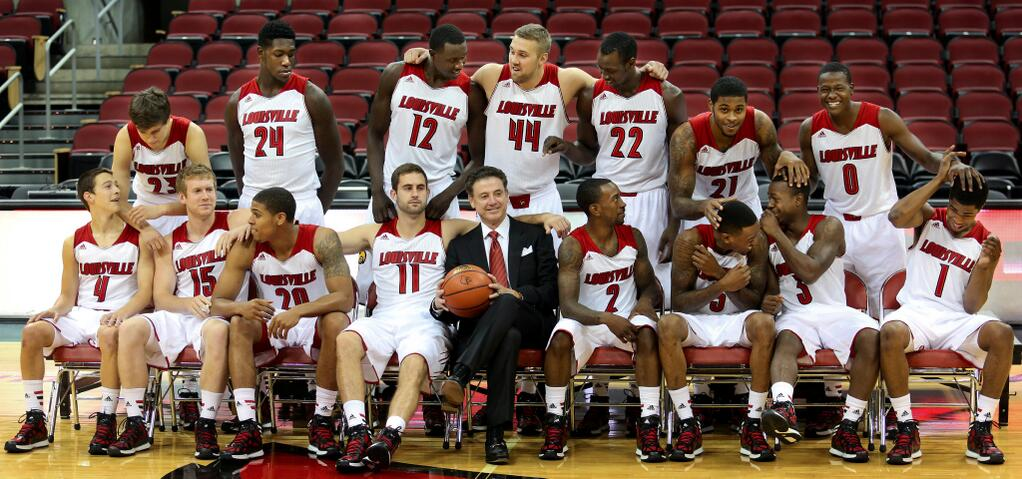 2013-14 University of Louisville basketball team, Media Day photo by Scott Utterback, The Courier-Journal