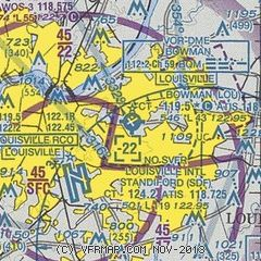 general aviation map of Louisville area