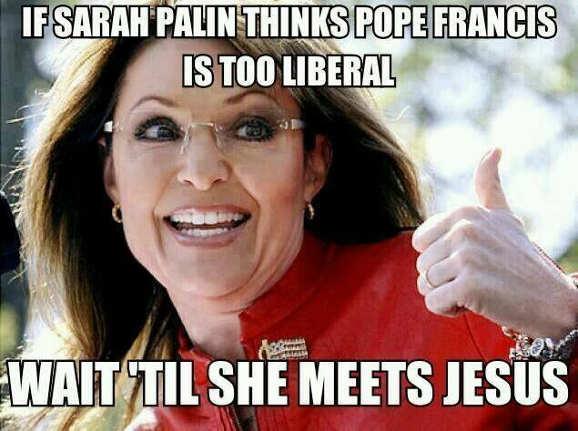 palin pope jesus