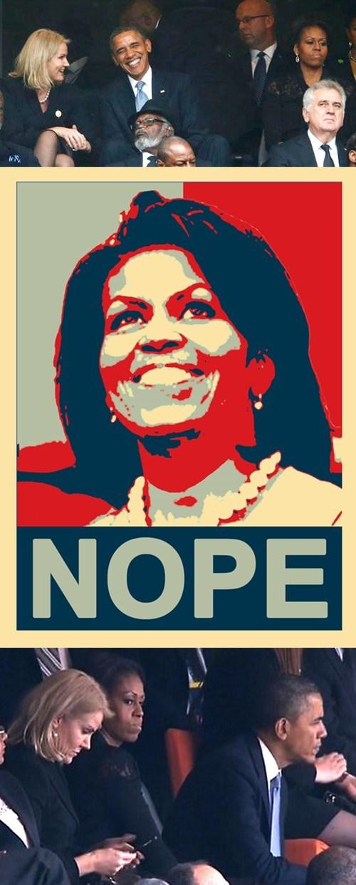 obama michelle intervenes