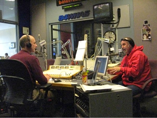 Terry Meiners and Tim Wilson at WHAS Radio, February 2009