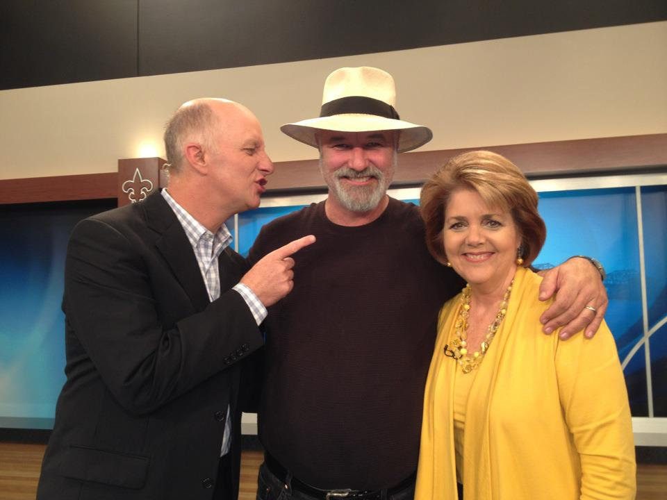 "Terry Meiners, Tim Wilson, and Rachel Platt on the set of WHAS-TV's ""Great Day Live"" -- November 21, 2012"