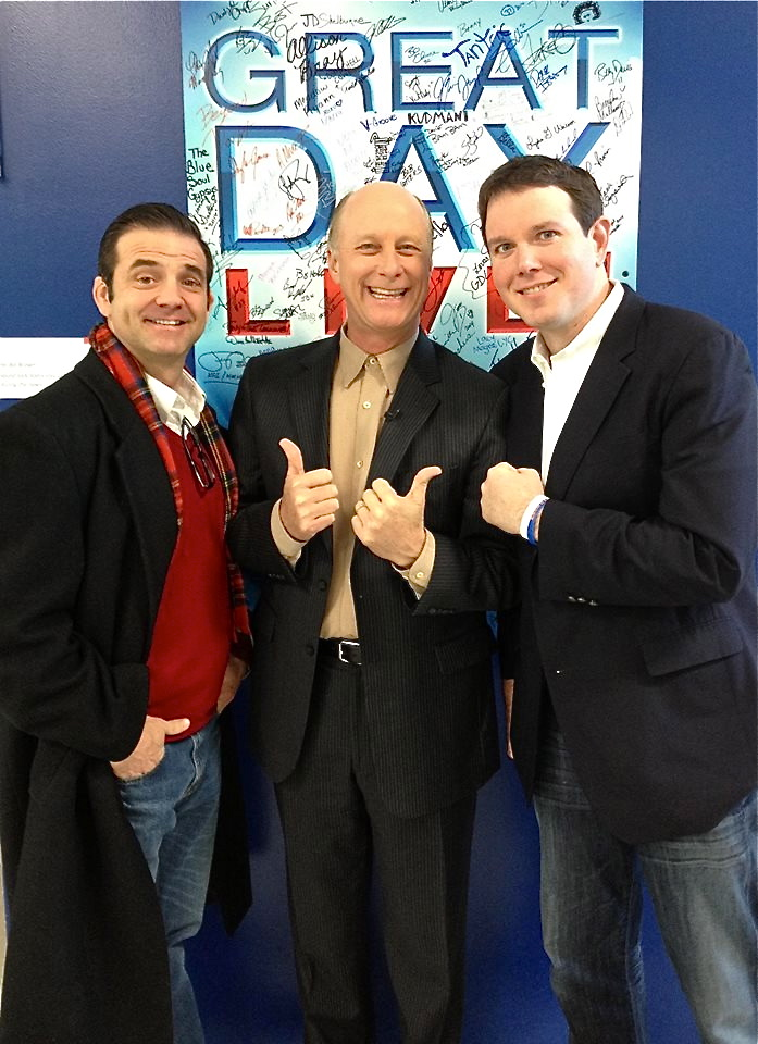 Tony Vanetti, Terry Meiners, and Matt Jones at WHAS-TV studios, March 24, 2014