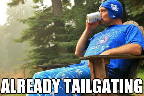 tailgating already