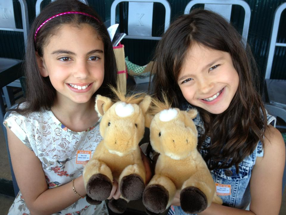 Thanks to Amy Gregory at Keeneland for gifting the girls with baby horses.