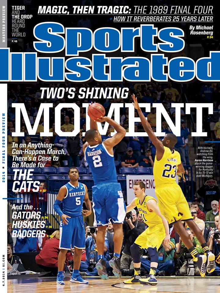 UK's 16th Sports Illustrated cover was earned after the WIldcats defeated Kansas State, Wichita State, Louisville, and Michigan to earn a trip to the Final Four