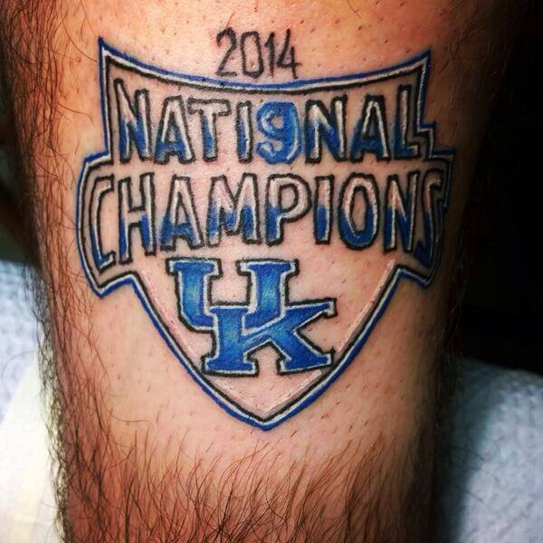 Austin Black decided to get a tattoo several weeks prior to the NCAA national championship game.  UConn won the game.