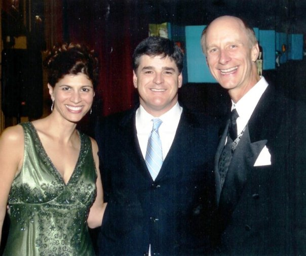 Mary and Terry Meiners with Sean Hannity at the National Radio Hall of Fame in Chicago, November 2006