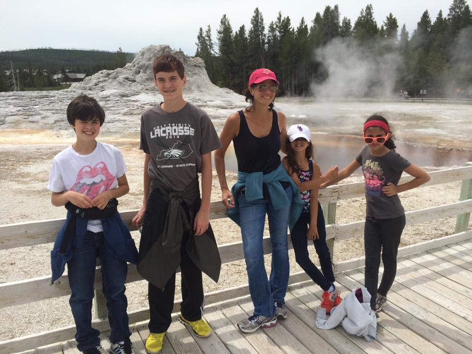mary and kids Castle Geyser 2014