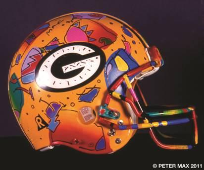 packers helmet peter max 2011
