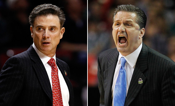Rick Pitino and John Calipari