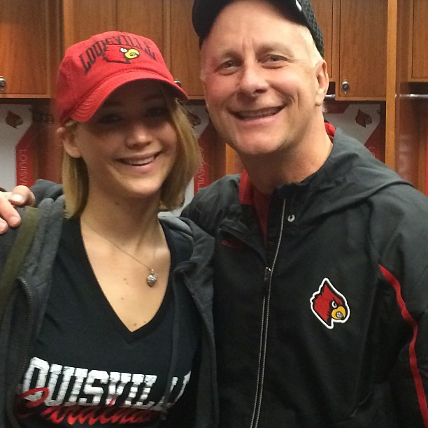 Jennifer Lawrence and Terry Meiners, December 27, 2014