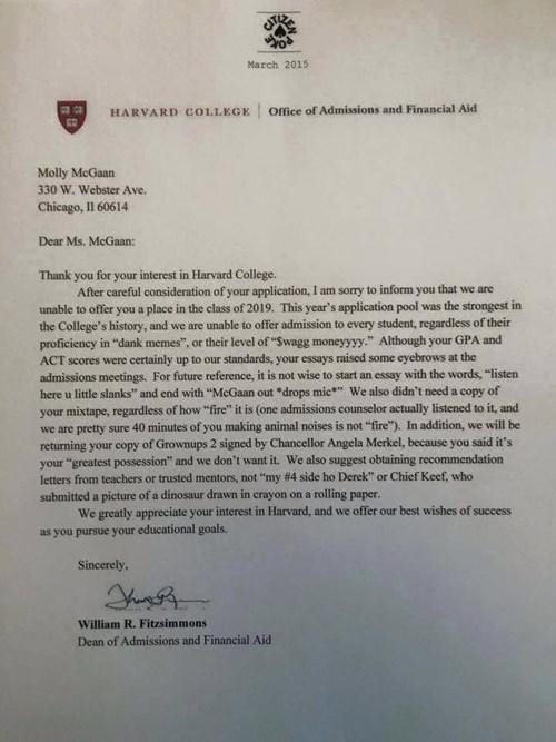 harvard admissions