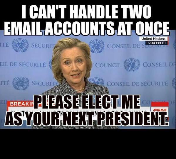 hillary two email account overwhelmed