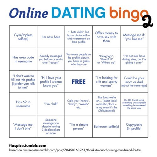 online dating bingo 2