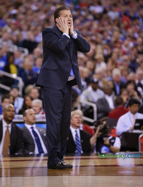 calipari hands to face