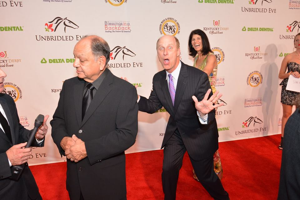 Photogs encouraged Terry to photobomb Cheech Marin on the red carpet.