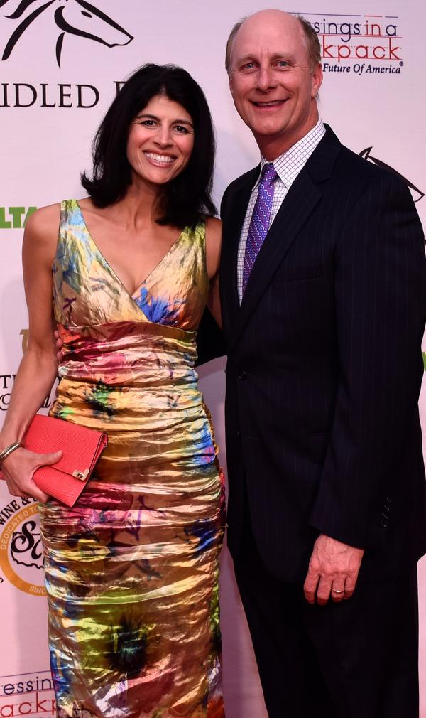 Mary and Terry Meiners, May 1, 2015 at Unbridled Eve, a fundraiser for Blessings in a Backpack