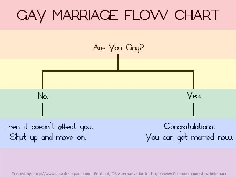 gay marriage flow chart