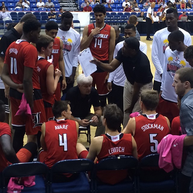 UofL backup players were matched with the Puerto Rico junior team.