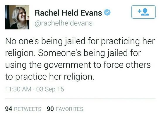 kim davis forcing religion