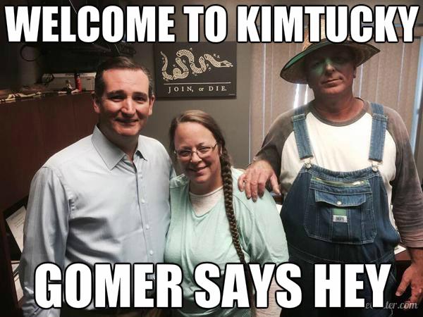 kimtucky gomer says hey