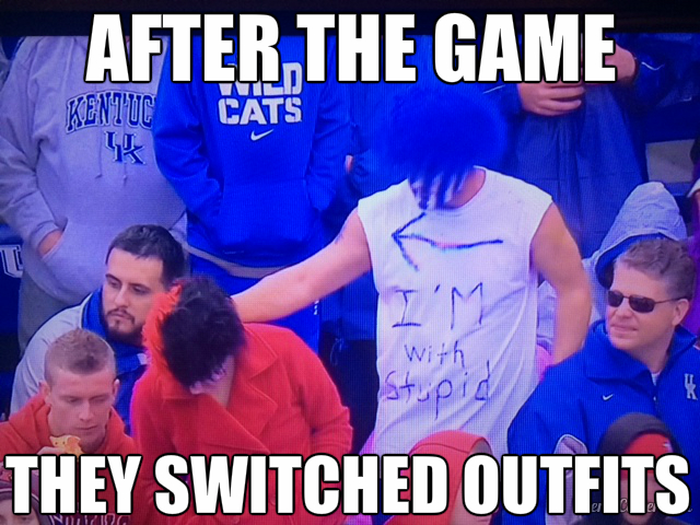 UK UofL switched outfits