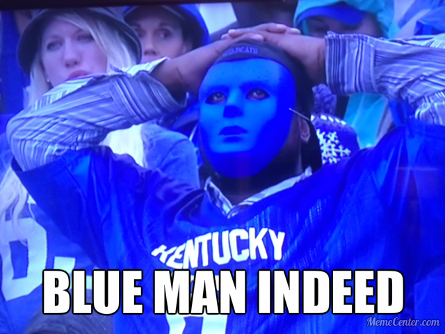 blue man indeed