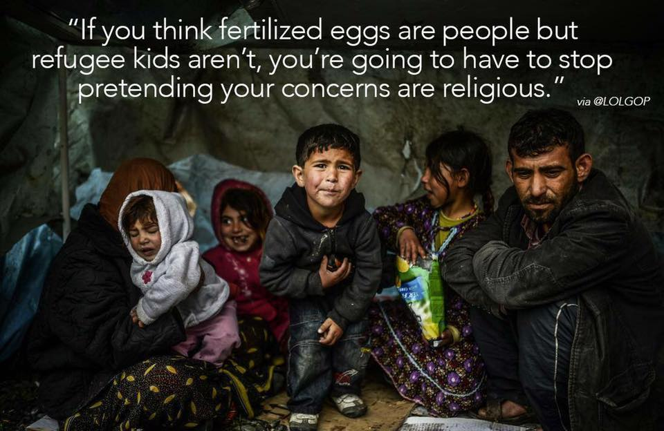 fertilized eggs vs refugees