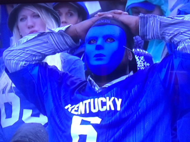 sad UK fan in mask