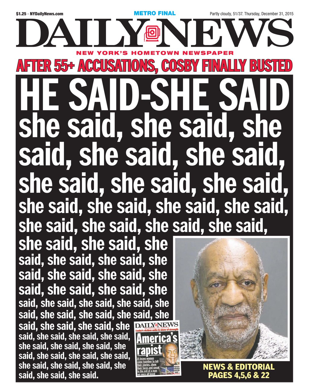 cosby front page