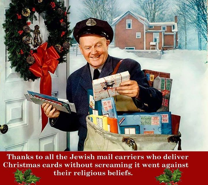jewish mailmen christmas cards