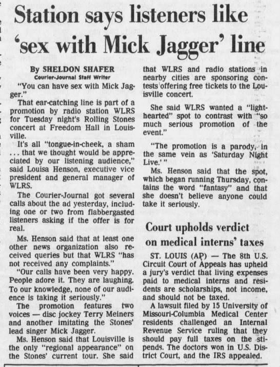 from The Courier-Journal, October 31, 1981