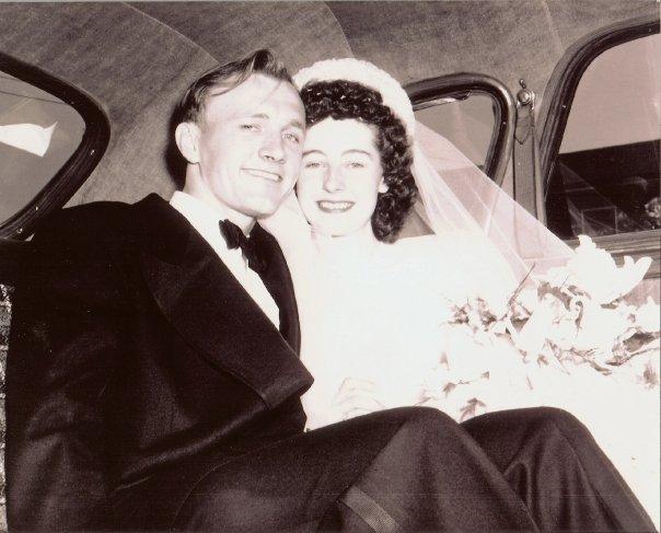Mel & Norma Meiners' wedding day, June 18, 1949