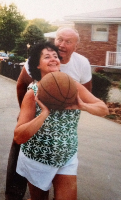 Dad would smack talk mom during backyard free throw contests.  It never worked.  She was money.