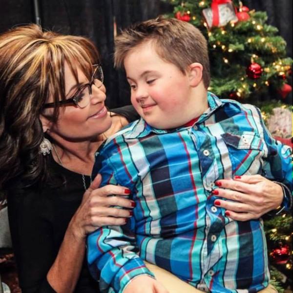 Sarah Palin with son Trig