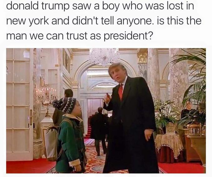 trump home alone