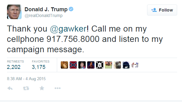 trump phone number