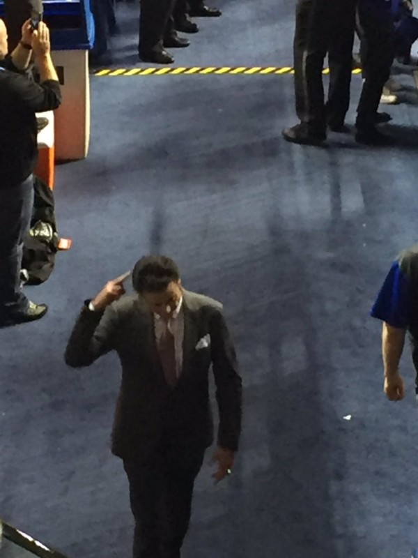 Leaving Rupp Arena after losing to UK, December 26, 2015