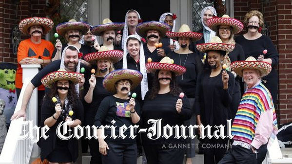 2015 Halloween luncheon at the home of UofL President James Ramsey (photo: The Courier Journal)