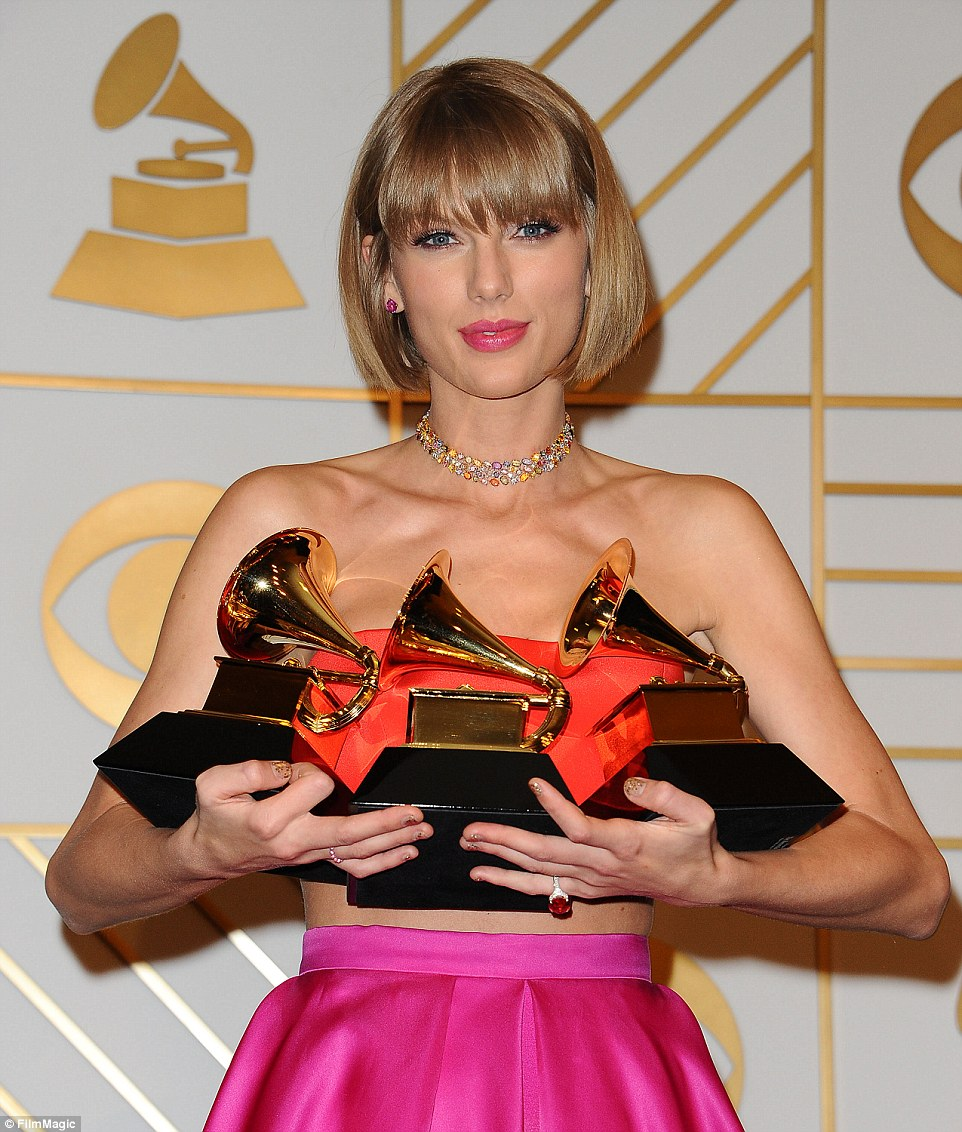 taylor swift 3 grammys