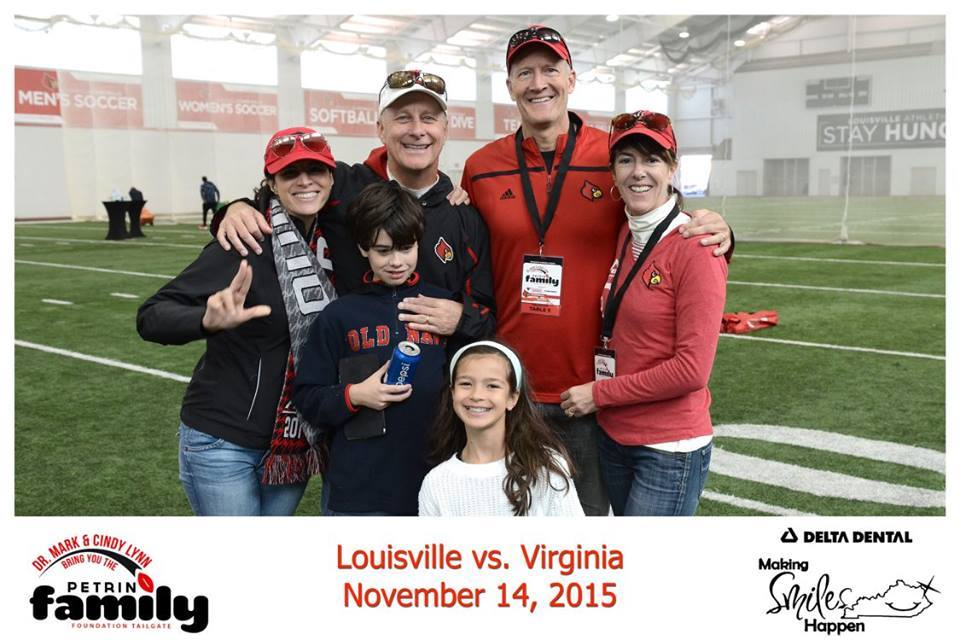With our neighbors at the Petrino Foundation pregame party