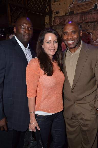 Tracy Blue appears with Charlie Strong, right, in this undated Voice-Tribune photo