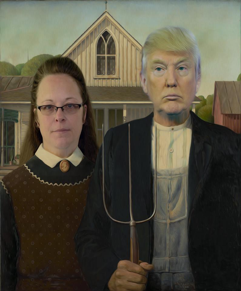 trump kim davis american gothic