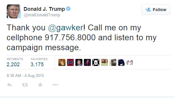trump phone number
